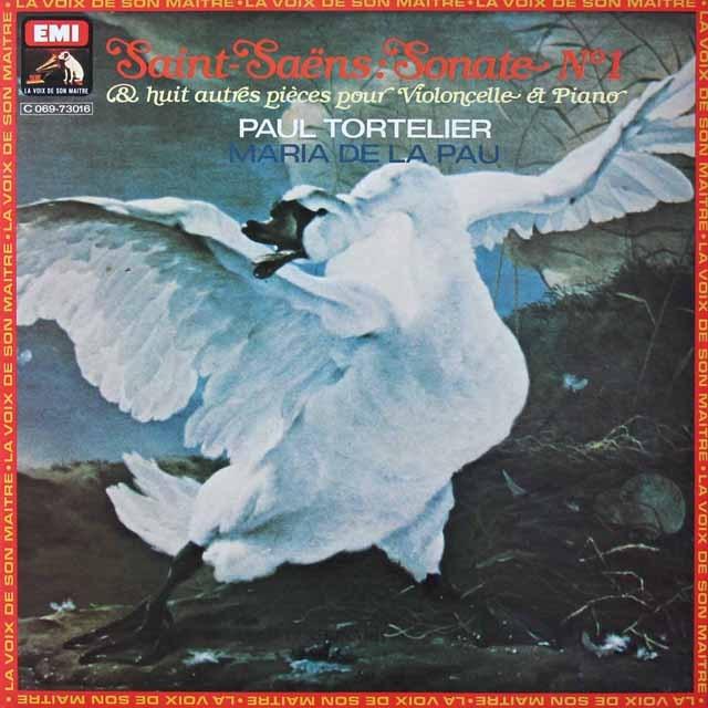 トルトゥリエ親子のサン=サーンス/チェロソナタ第1番&「白鳥」ほか 仏EMI(VSM) 2822 LP レコード