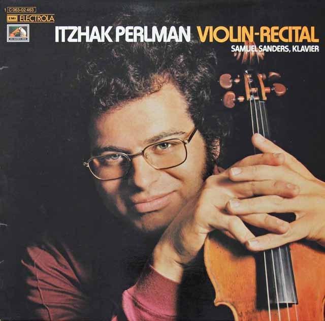 パールマンの「ヴァイオリンリサイタル」 独EMI 3297 LP レコード