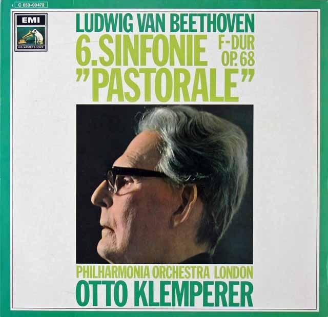 クレンペラーのベートーヴェン/交響曲第6番「田園」 独EMI 3297 LP レコード