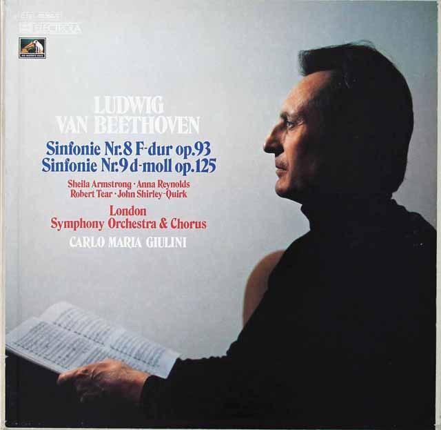 ジュリーニのベートーヴェン/交響曲第8&9番 独EMI 3297 LP レコード