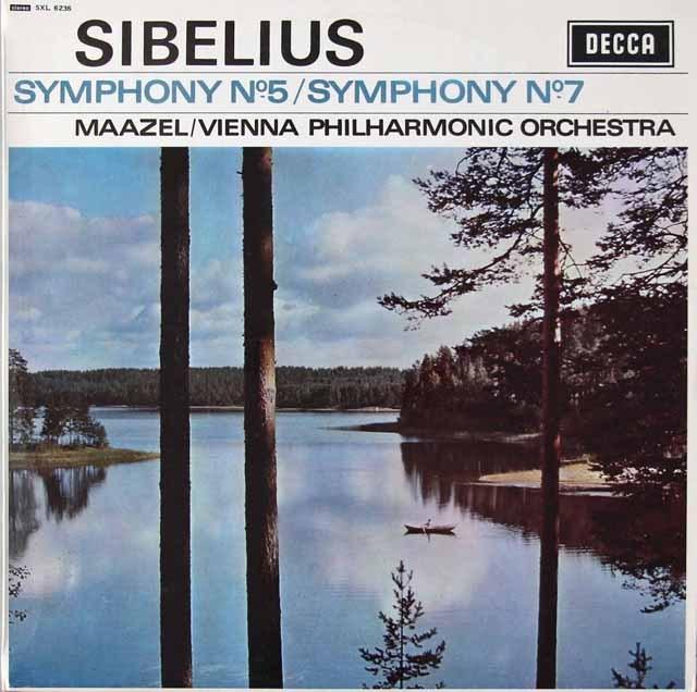 マゼールのシベリウス/交響曲第5&7番 英DECCA 3297 LP レコード