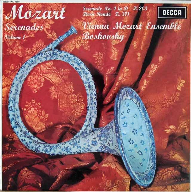 ボスコフスキーのモーツァルト/セレナーデ第4番ほか 英DECCA オリジナル盤 2822 LP レコード