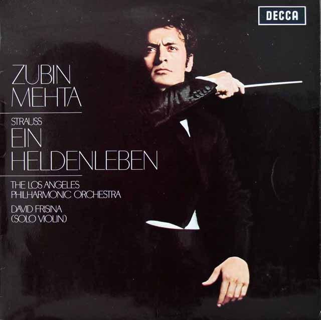 【オリジナル盤】メータのR.シュトラウス/「英雄の生涯」 英DECCA 2822 LP レコード
