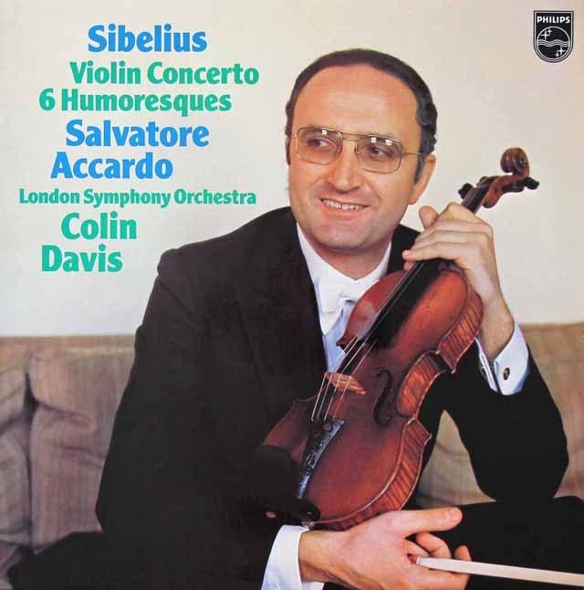 アッカルドのシベリウス/ヴァイオリン協奏曲ほか 蘭PHILIPS 2822 LP レコード