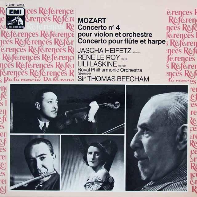 ハイフェッツ、ロイ&ラスキーヌらのモーツァルト/協奏曲集 仏EMI(VSM) 2824 LP レコード