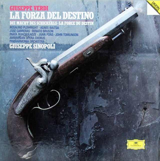 シノーポリのヴェルディ/「運命の力」全曲 独DGG 2824 LP レコード