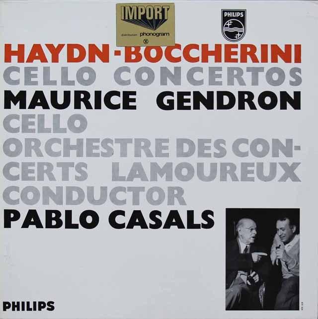 カザルス&ジャンドロンのハイドン&ボッケリーニ/チェロ協奏曲集 蘭PHILIPS 3296 LP レコード