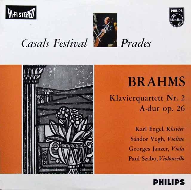 【オリジナル盤】 エンゲル、ヴェーグらのブラームス/ピアノ四重奏曲第2番 蘭PHILIPS 3296 LP レコード