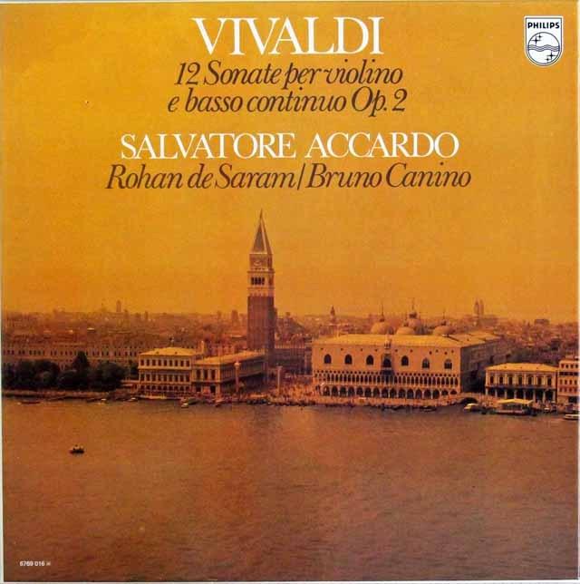 アッカルドのヴィヴァルディ/12曲のヴァイオリンソナタ集  蘭PHILIPS 2826 LP レコード