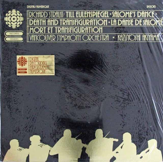 【未開封】 秋山のR.シュトラウス/「ティル」、「サロメの踊り」、「死と変容」  カナダCBC 3296 LP レコード
