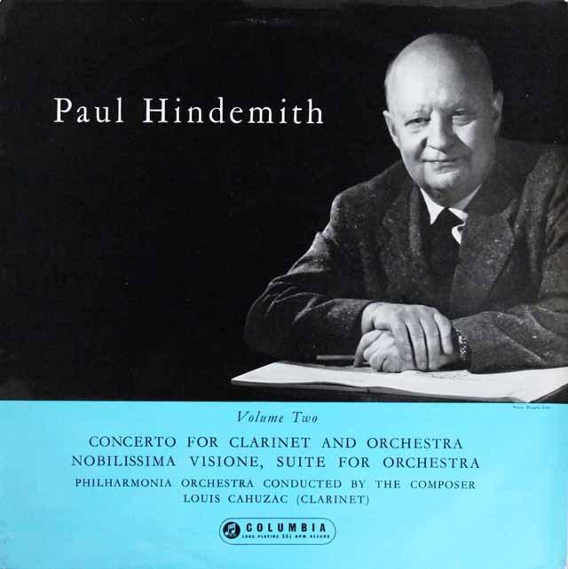 ヒンデミットの自作自演/クラリネット協奏曲ほか 英Columbia 3296 LP レコード