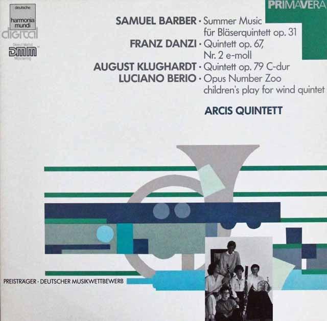 アーキス五重奏団のバーバー&ベリオらの室内楽作品集 独HM 3296 LP レコード