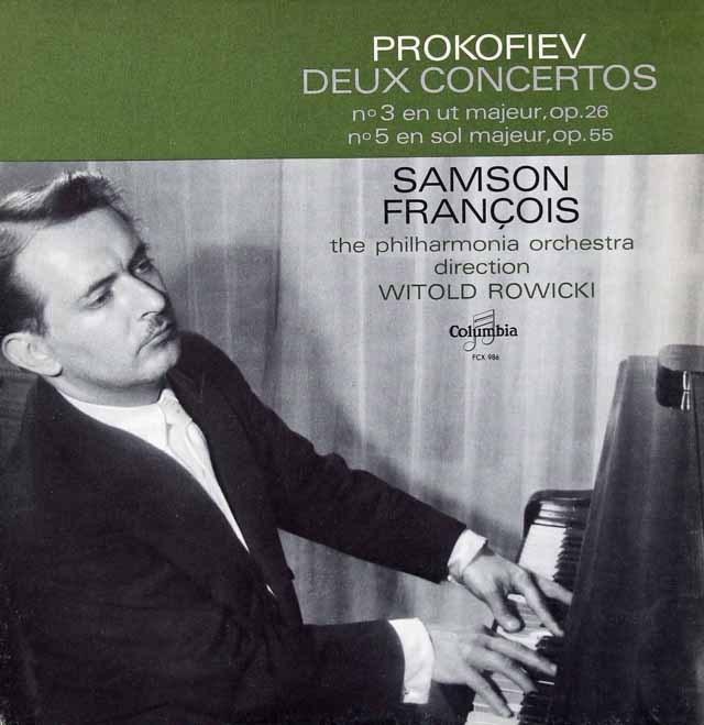 フランソワのプロコフィエフ/ピアノ協奏曲第3&5番 仏Columbia 3296 LP レコード