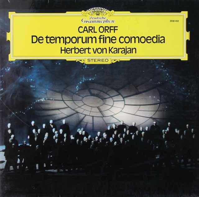 カラヤンのオルフ/「時の終わりの劇」 独DGG 3296 LP レコード