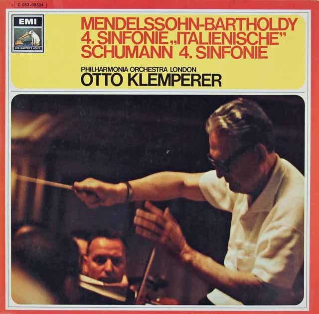 クレンペラーのメンデルスゾーン/交響曲第4番「イタリア」ほか 独EMI 3296 LP レコード