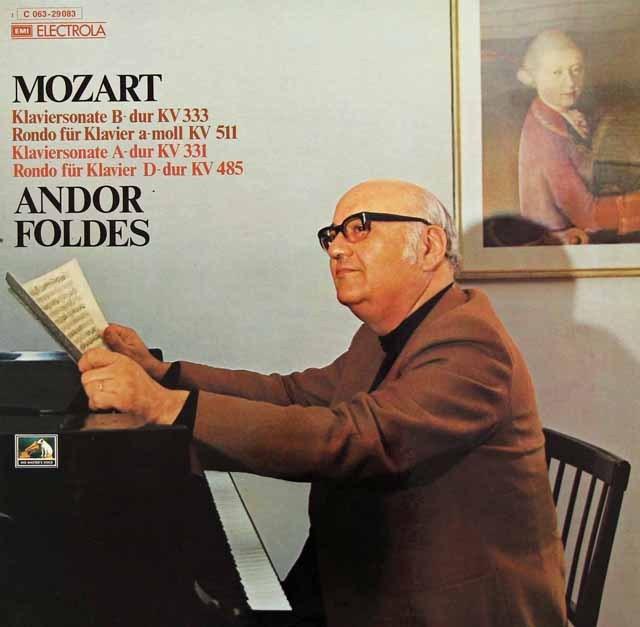 フォルデシュのモーツァルト/ピアノソナタ集  独EMI 2830 LP レコード