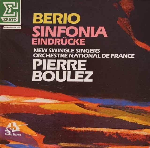 ブーレーズのベリオ/シンフォニアほか 仏ERATO 3295 LP レコード