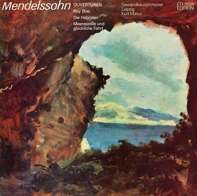 マズアのメンデルスゾーン/序曲集 独ETERNA 3295 LP レコード