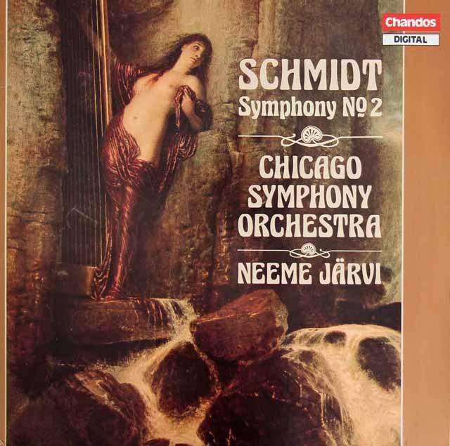 ネーメ・ヤルヴィのシュミット/交響曲第2番 英Chandos 3295 LP レコード