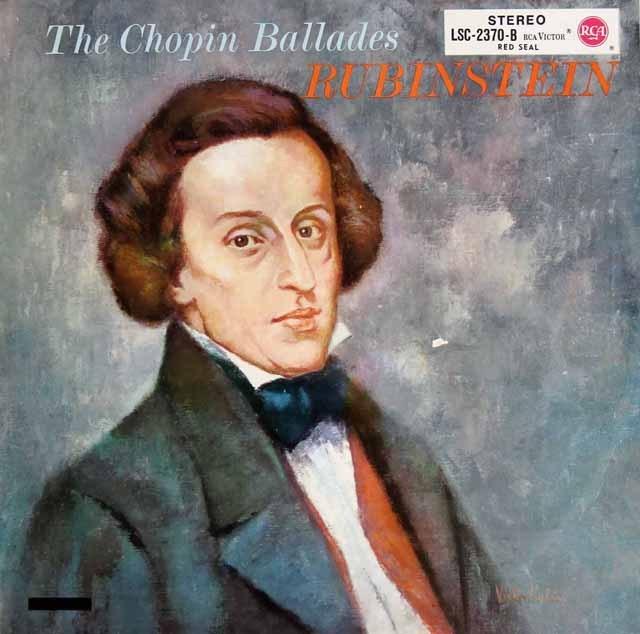 ルービンシュタインのショパン/バラード集  独RCA 2831 LP レコード