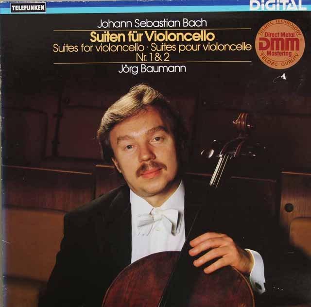 イェルク・バウマンのバッハ/無伴奏チェロ組曲第1&2番  独TELEFUNKEN 3295 LP レコード