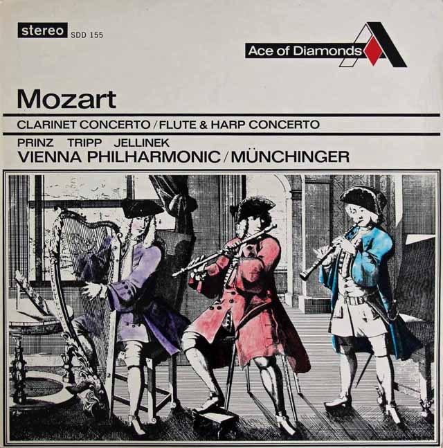 プリンツ&ミュンヒンガーのモーツァルト/クラリネット協奏曲ほか  英Ace of Diamonds 2831 LP レコード