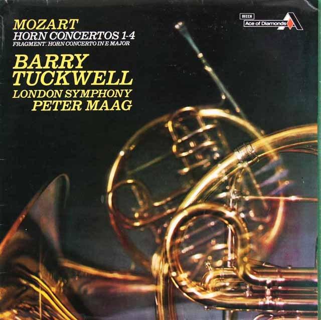 マーク&タックウェルのモーツァルト/ホルン協奏曲集  英Ace of Diamonds 2831 LP レコード