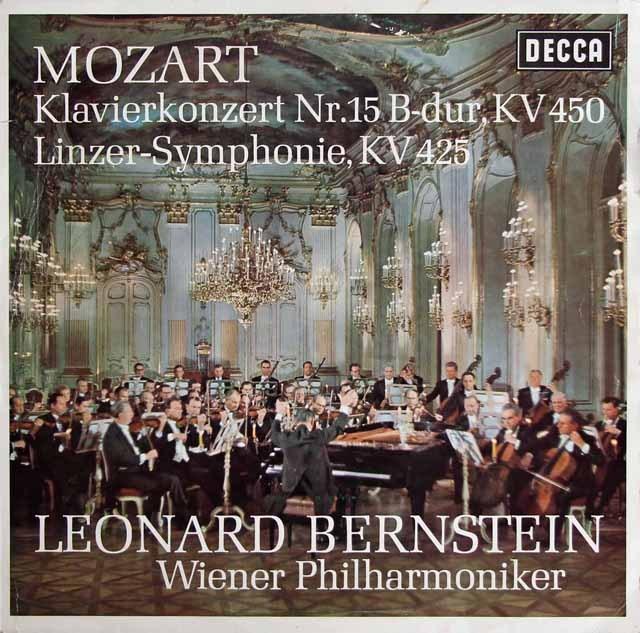 バーンスタインのモーツァルト/ピアノ協奏曲第15番ほか 独DECCA 3295 LP レコード