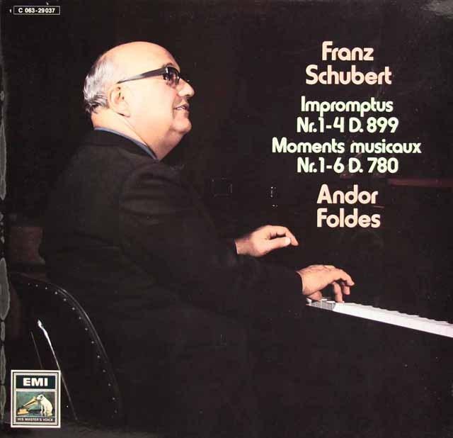 フォルデスのシューベルト/4つの即興曲&「楽興のとき」 独EMI 2831 LP レコード
