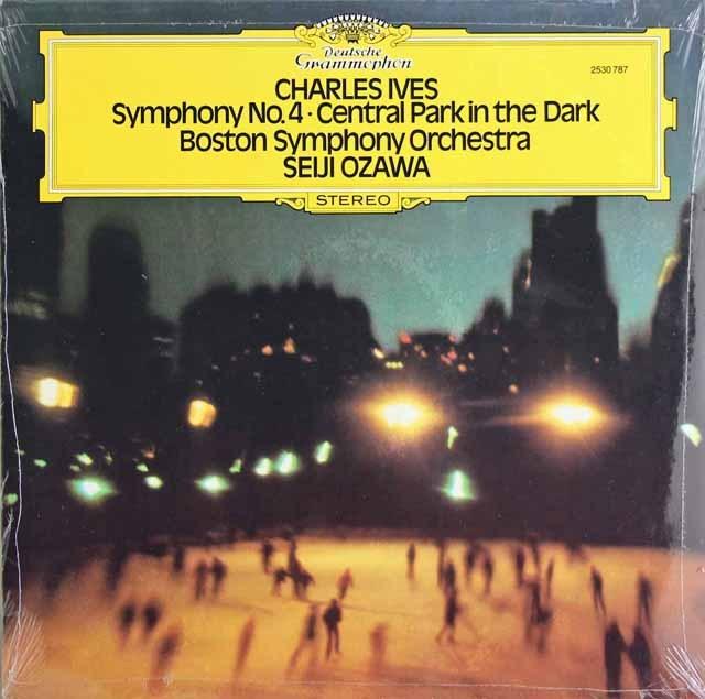 【未開封】 小澤のアイヴズ/交響曲第4番&「宵闇のセントラルパーク」 独DGG 3295 LP レコード