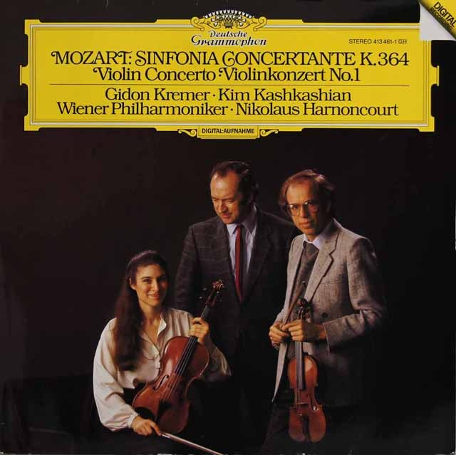 クレーメル&アーノンクールらのモーツァルト/ヴァイオリン協奏曲第1番ほか 独DGG 3295 LP レコード