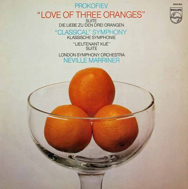 マリナーのプロコフィエフ/組曲「3つのオレンジへの恋」ほか 蘭PHILIPS 3295 LP レコード