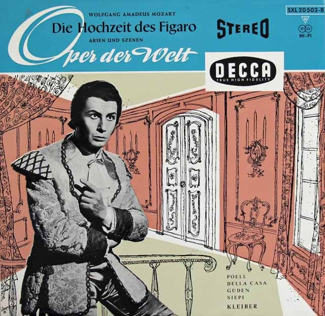 エーリヒ・クライバーのモーツァルト/「フィガロの結婚」抜粋 独DECCA 2833 LP レコード