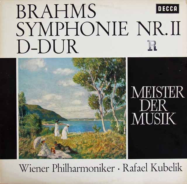 クーベリックのブラームス/交響曲第2番 独DECCA 2833 LP レコード
