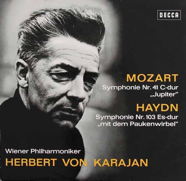 カラヤンのモーツァルト/交響曲第41番「ジュピター」ほか 独DECCA 2833 LP レコード