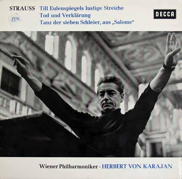 カラヤンのR.シュトラウス/「ティル」、「死と変容」&「サロメ」 独DECCA 2833 LP レコード