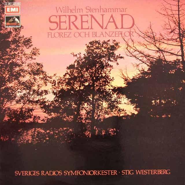 ヴェステルベリのステンハンマル/セレナードほか スウェーデンEMI 2833 LP レコード