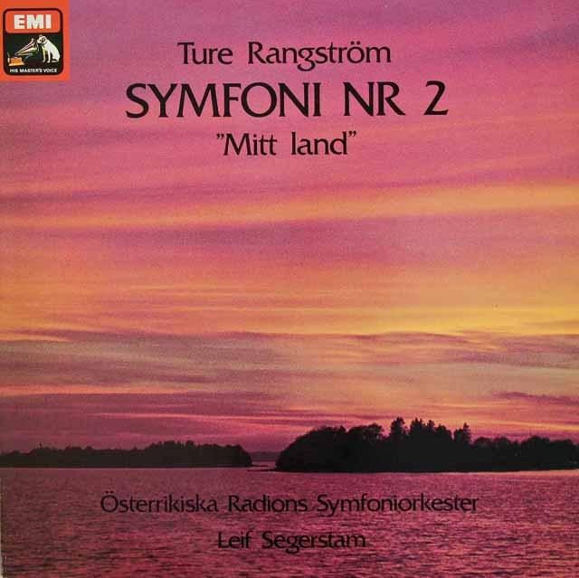 セーゲルスタムのラングストレム/交響曲第2番「祖国」 スウェーデンEMI 2833 LP レコード