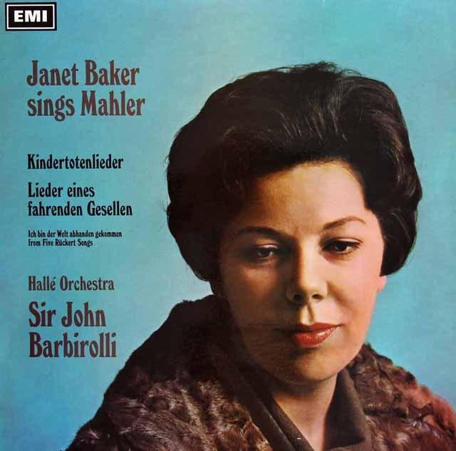 ベイカー&バルビローリのマーラー/「亡き子をしのぶ歌」&「さすらう若人の歌」 英EMI 3295 LP レコード