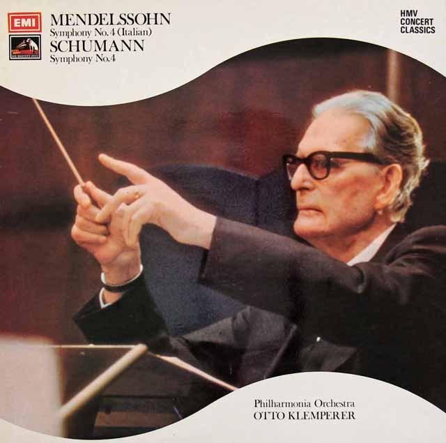 クレンペラーのメンデルスゾーン/交響曲第4番「イタリア」ほか 英EMI 3295 LP レコード