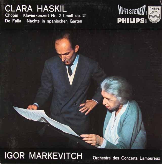 【オリジナル盤】 ハスキル&マルケヴィチのショパン/ピアノ協奏曲第2番ほか 蘭PHILIPS 3295 LP レコード