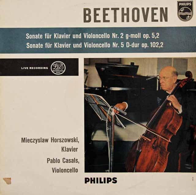 カザルスのベートーヴェン/チェロソナタ第2&5番 蘭PHILIPS 2833 LP レコード