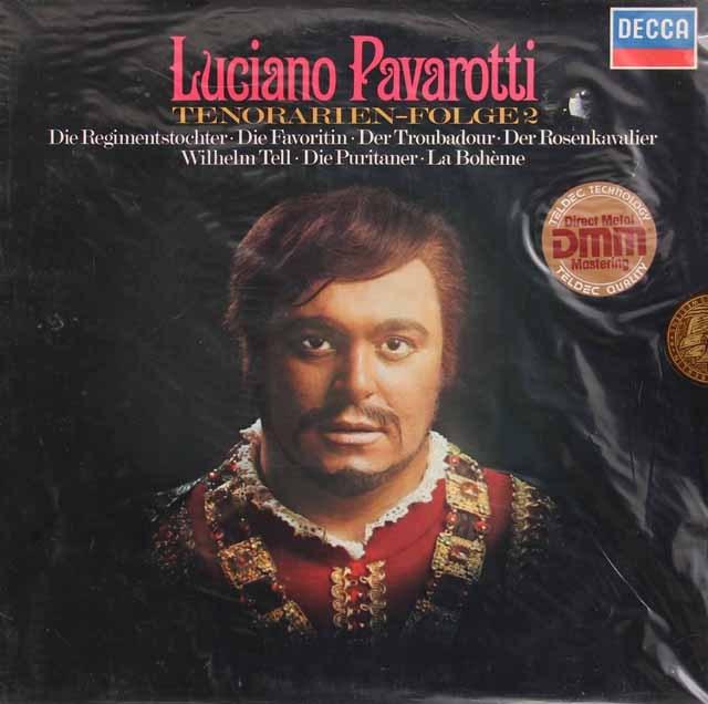 未開封:パヴァロッティのテノール・オペラ・アリア集 vol.2 独DECCA 2835 LP レコード
