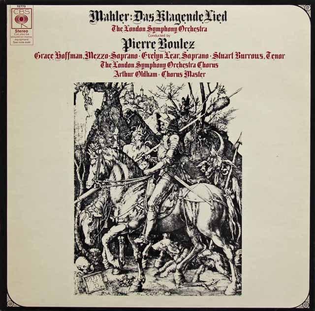 ブーレーズのマーラー/嘆きの歌 英CBS 3295 LP レコード