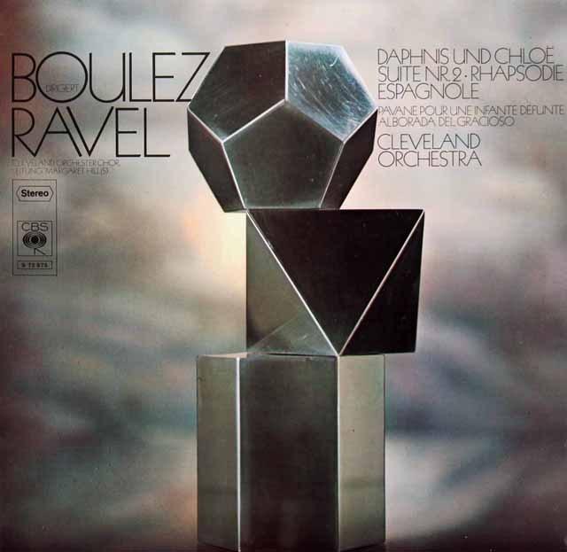ブーレーズのラヴェル/管弦楽曲集 独CBS 3295 LP レコード