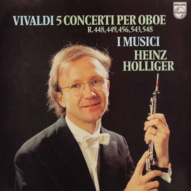 ホリガー&イ・ムジチのヴィヴァルディ/オーボエ協奏曲集 蘭PHILIPS 3295 LP レコード