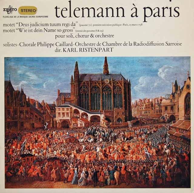 リステンパルトのテレマン/モテット集  仏ERATO 2835 LP レコード