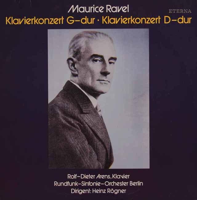 アレンス&レーグナーのラヴェル/ピアノ協奏曲集 独ETERNA 2835 LP レコード