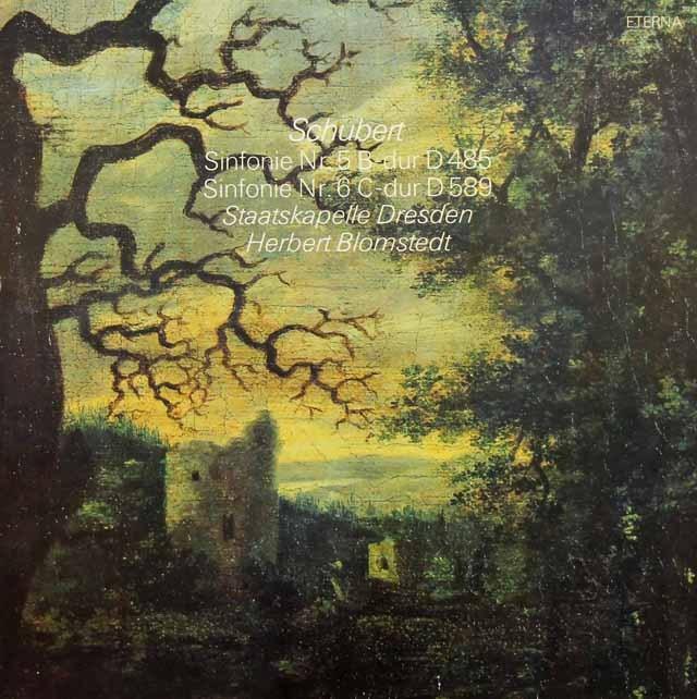 ブロムシュテットのシューベルト/交響曲第5&6番 独ETERNA 2835 LP レコード