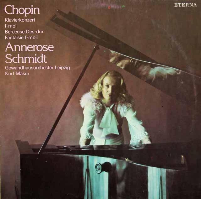 シュミット&マズアのショパン/ピアノ協奏曲第2番ほか 独ETERNA 2835 LP レコード